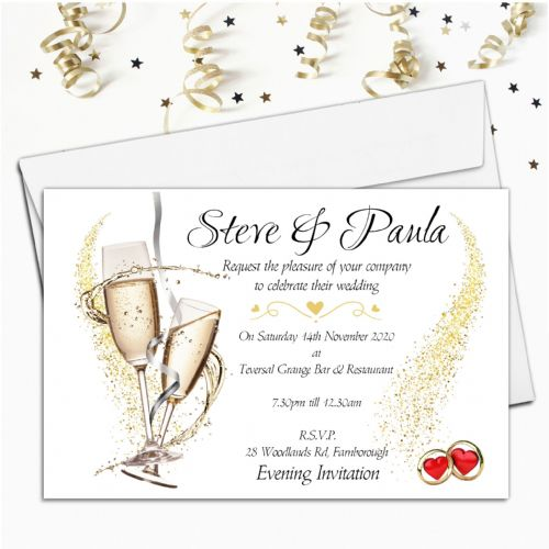 10 Personalised Wedding Invitations  Day / Evening N7